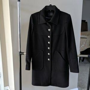 Tahari black wool coat 4